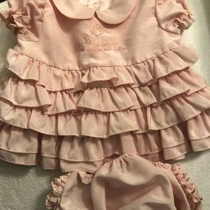 Bunnies by the Bay Dress w/Matching Bloomers 0/12M